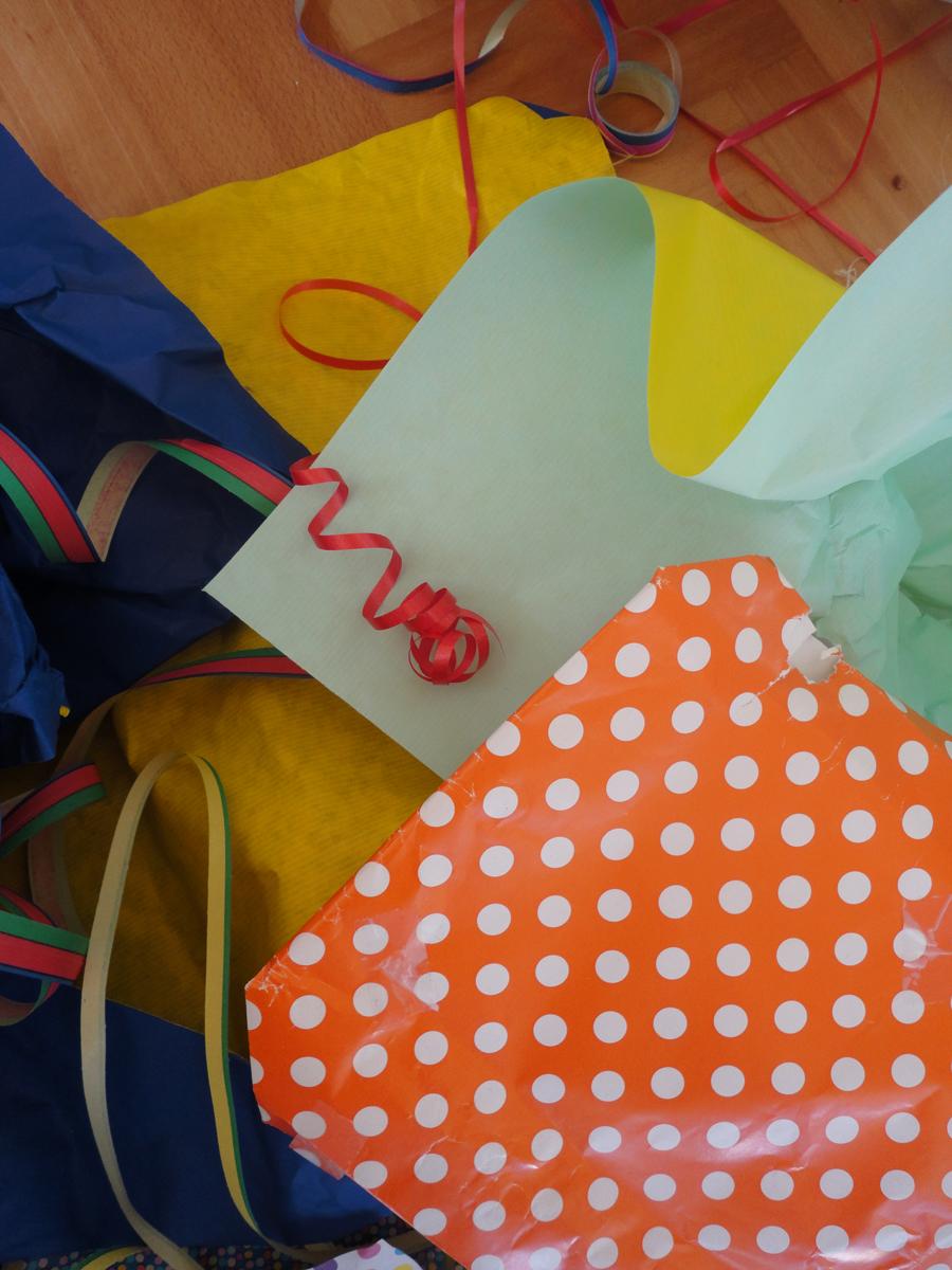 verschieden Geschenkpapiere