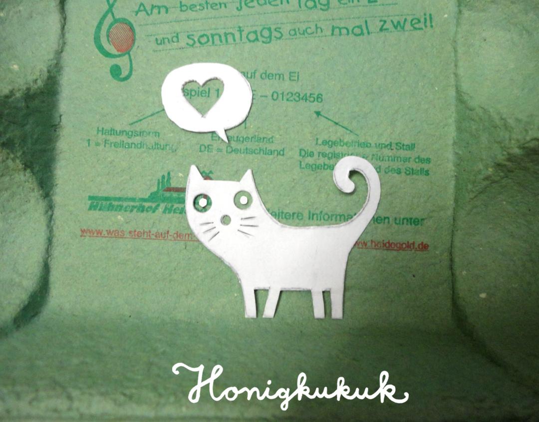 Katzenstempel Schablone