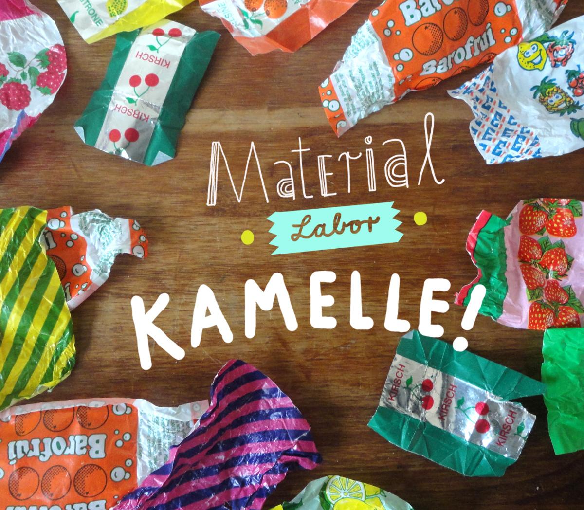 Titelbild Materiallabor: Kamelle / Bonbonpapier