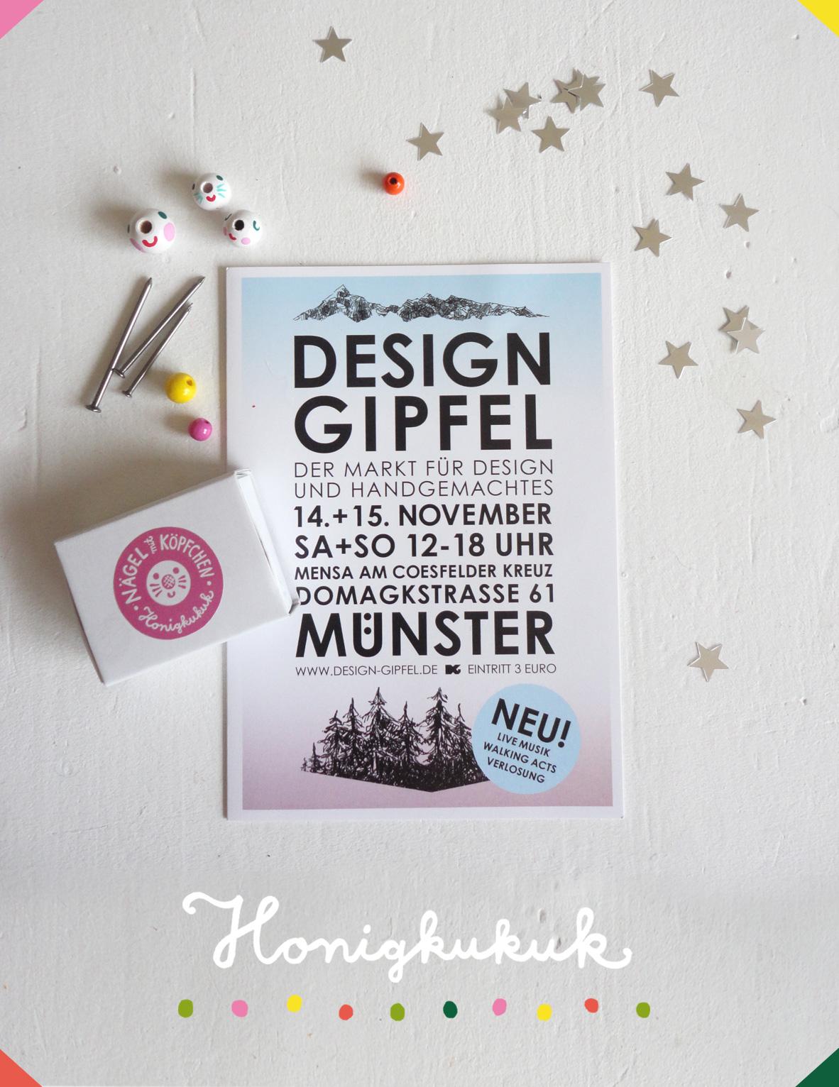 DesignGipfel Flyer mit Nägeln mit Köpfen
