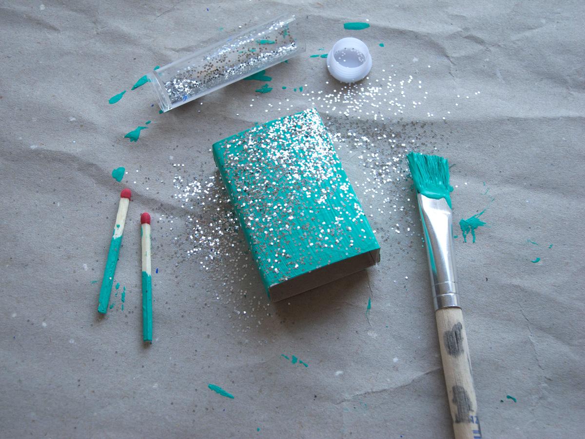 Atreichholzschachtel mit Glitter