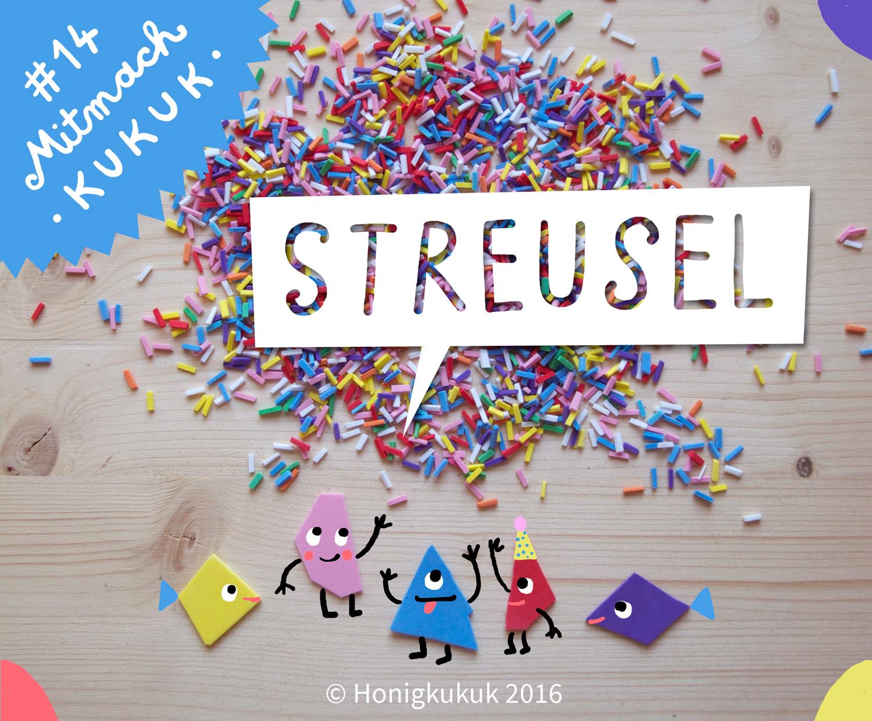 Bunte Moosgummi-Streusel