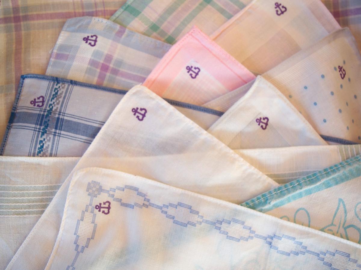 Taschentücher mit Anker-Stempel