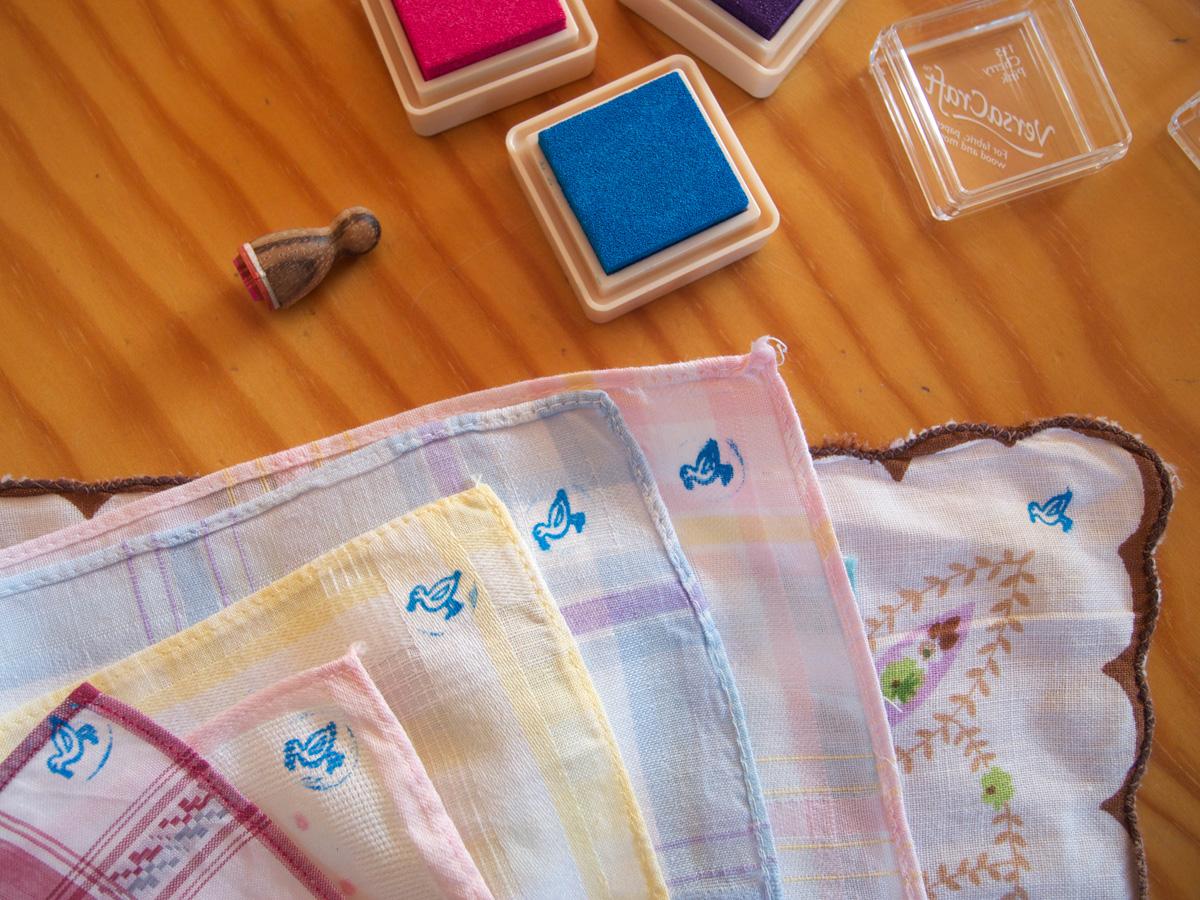 Taschentücher mit Möwen-Stempel