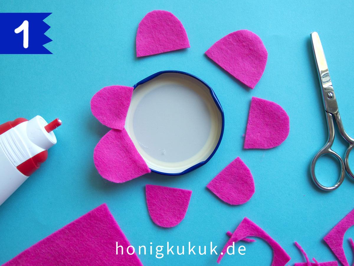 Wandblumen, Step 1