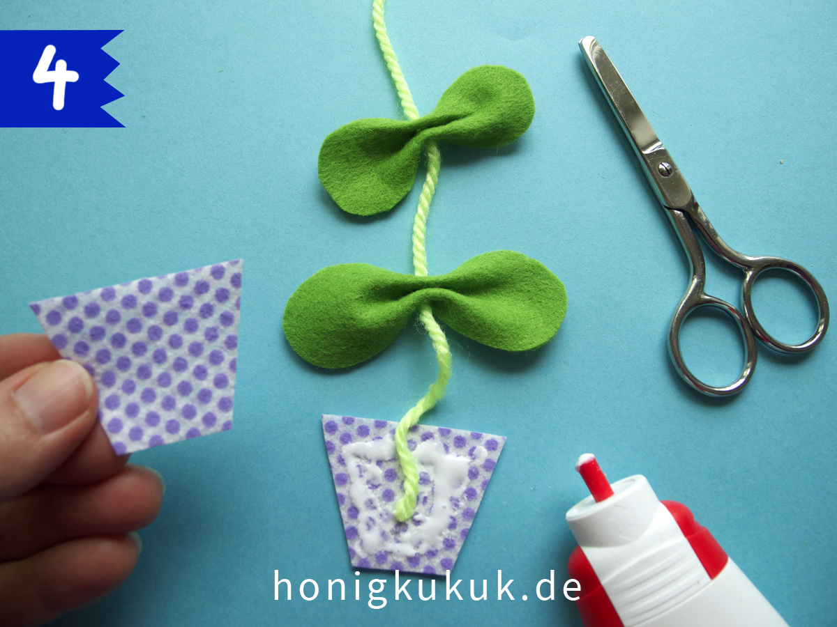 Wandblumen, Step 4