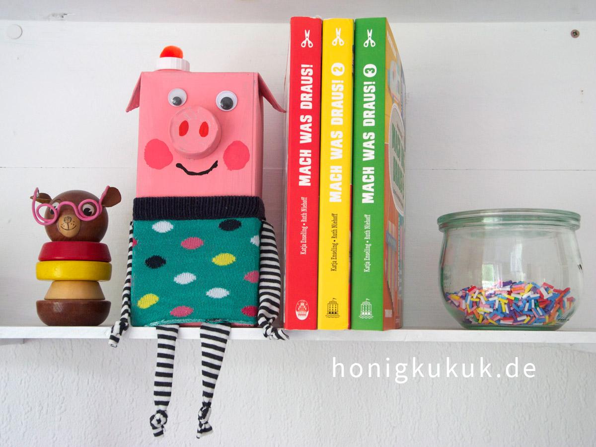 Mach was draus! Bastelbuch-Trilogie mit Schweinchen