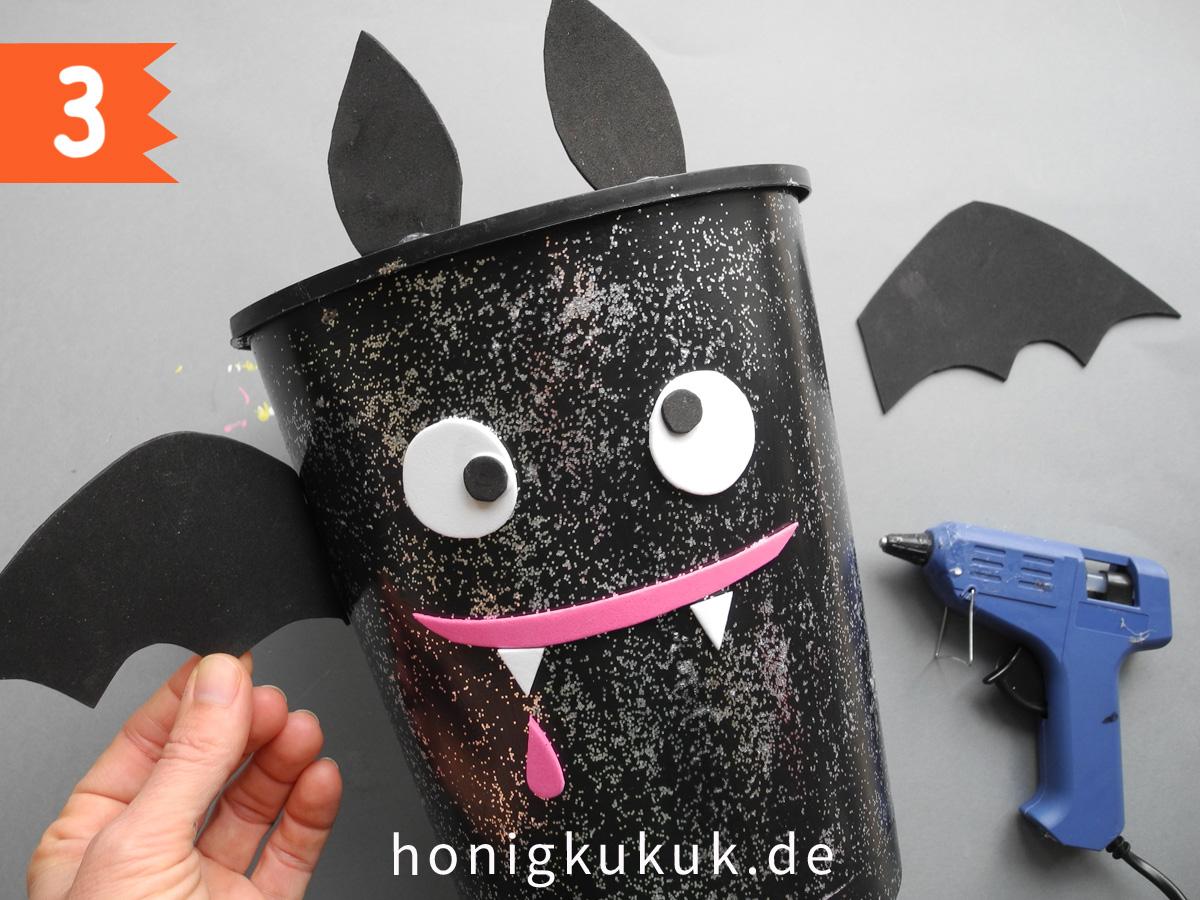 Halloween, Süßigkeiteneimer DIY, Step 3