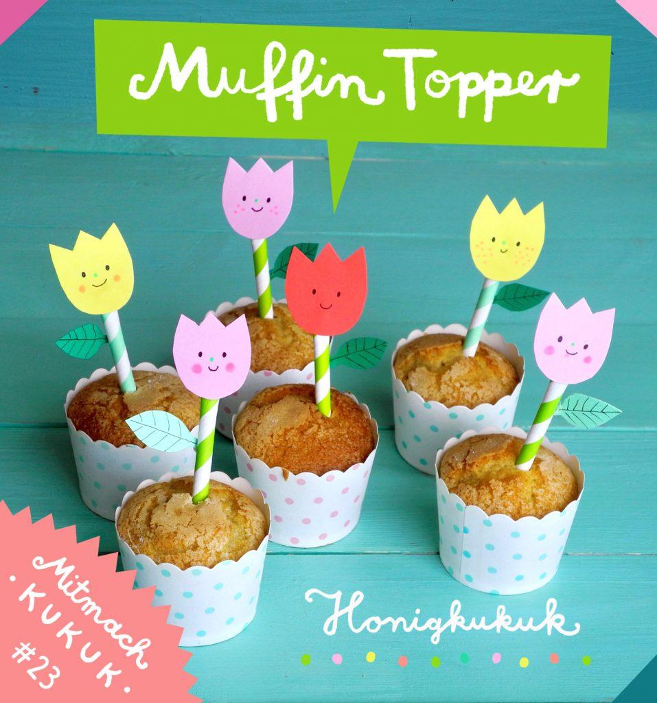 Muffin Topper Basteln, Blume