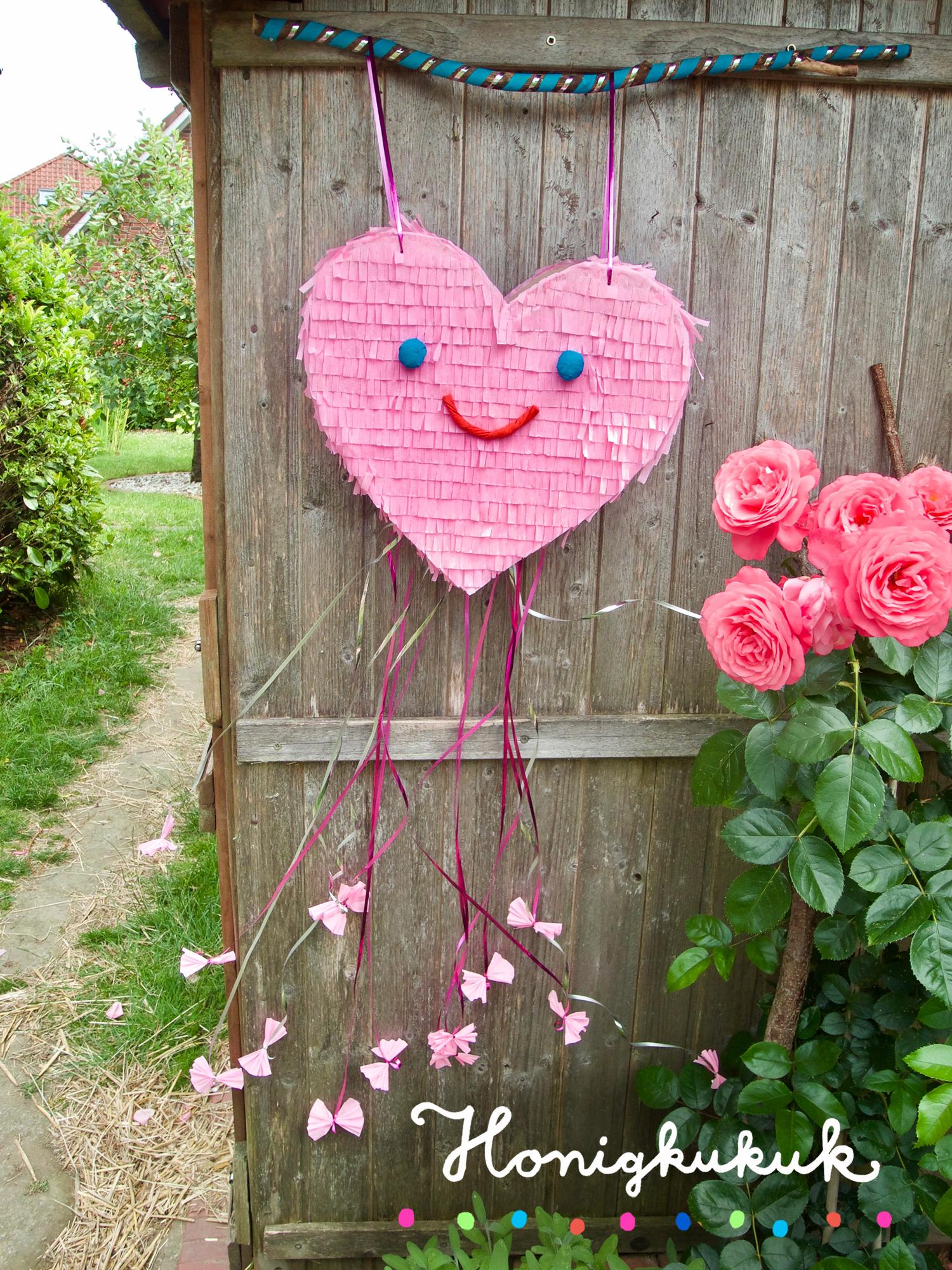 Hochzeits-Piñata, rosa Herz