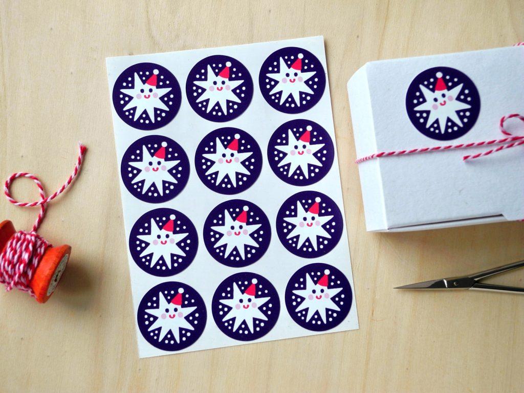 Sternchen-Sticker, Stickerbogen, Honigkukuk, Etsy-Shop, Papeterie