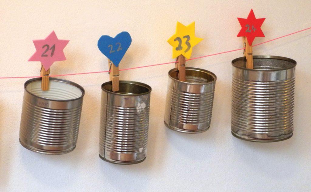 Honigkukuk, Upcycling-Adventskalender, Detailansicht