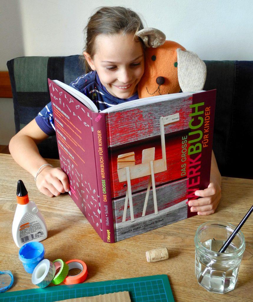 """Buchvorstellin """"Das große Werkbuch für Kinder"""" von Claudia Huboi und Claudia Scholl, Haupt Verlag 2018"""