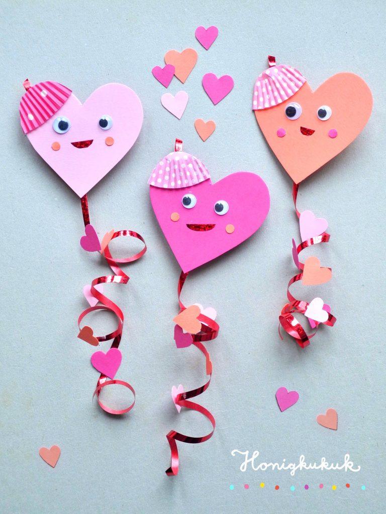 Herz-Drachen, DIY zum Valentinstag