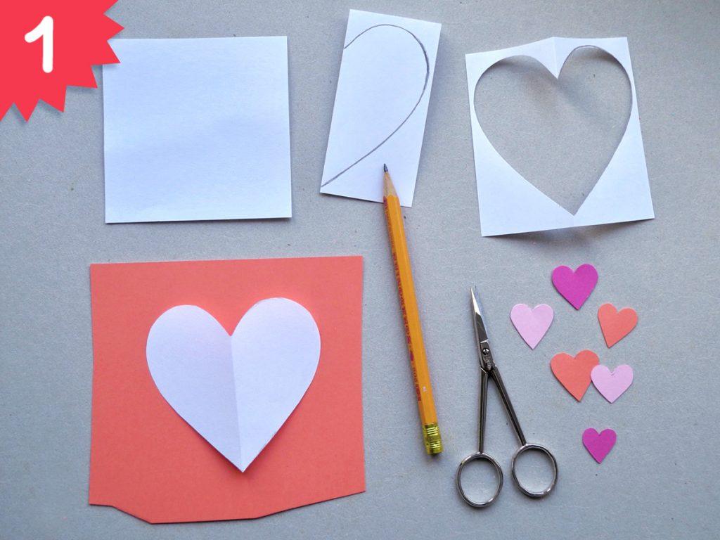 Herzchen, DIY zum Valentinstag, Step 1