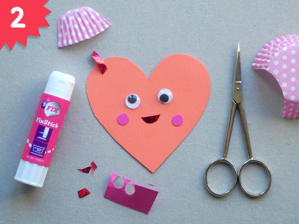 Herzchen, DIY zum Valentinstag, Step 2