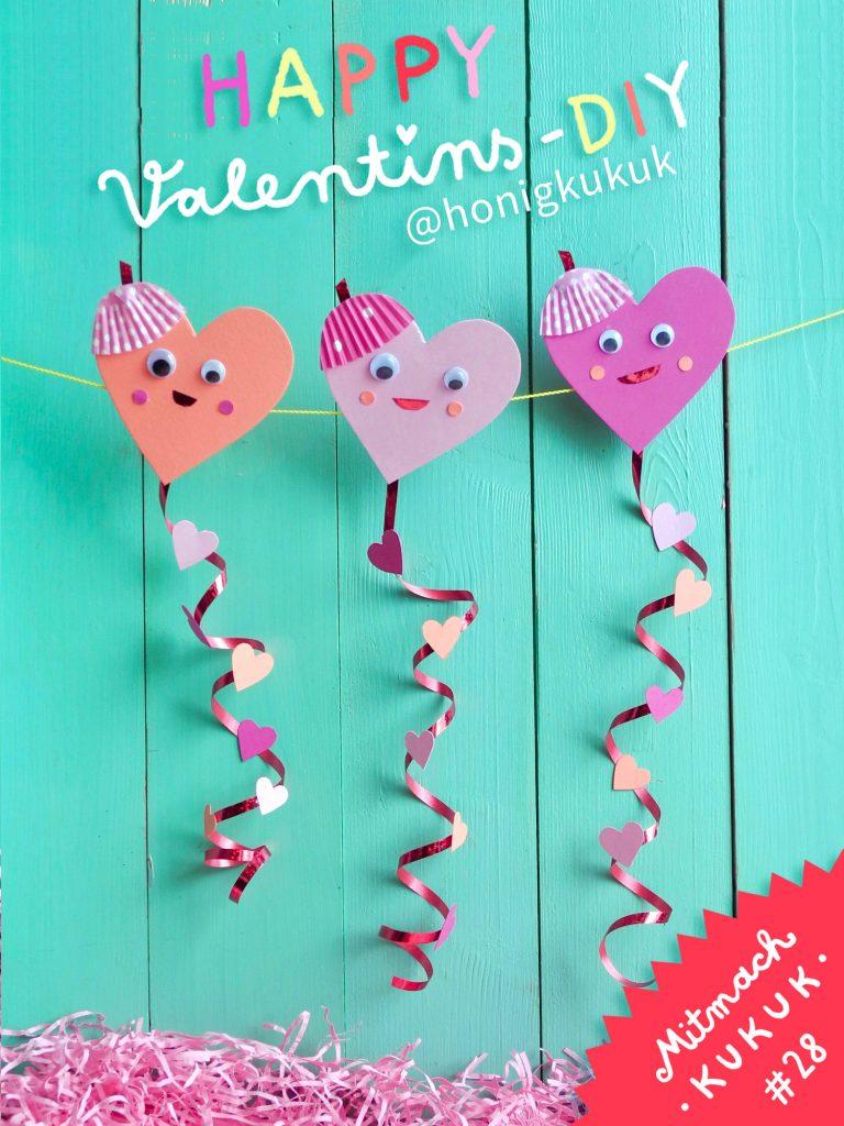 Herz-Drachen, DIY zum Valentinstag, Titelbild