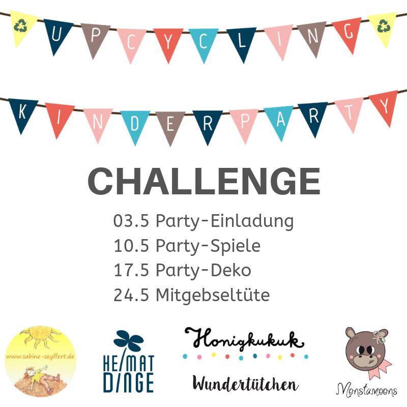 Upcyclingideeen für den Kindergeburtstag, Instagram Challenge