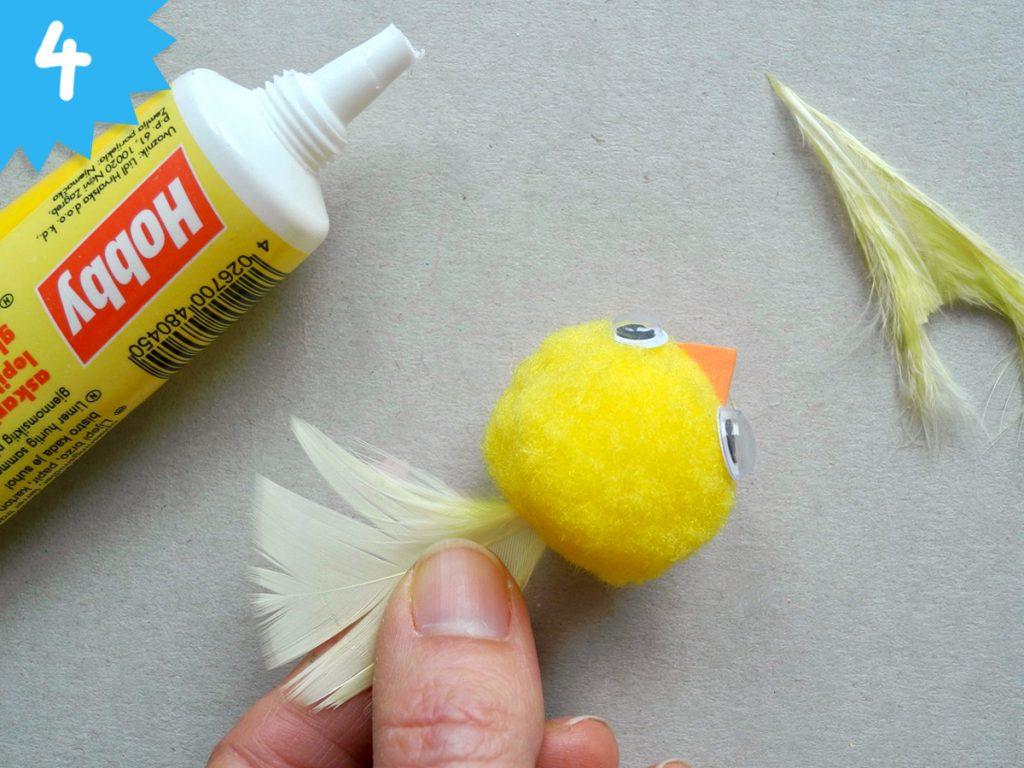 Vogelnester aus Zeitungspapier basteln, Honigkukuk, Anleitung, Schritt 4
