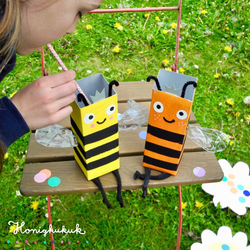 Kindergeburtstagsspiele für die Gartenparty, Upcyclingideen zum Spielen, Bienenspiel
