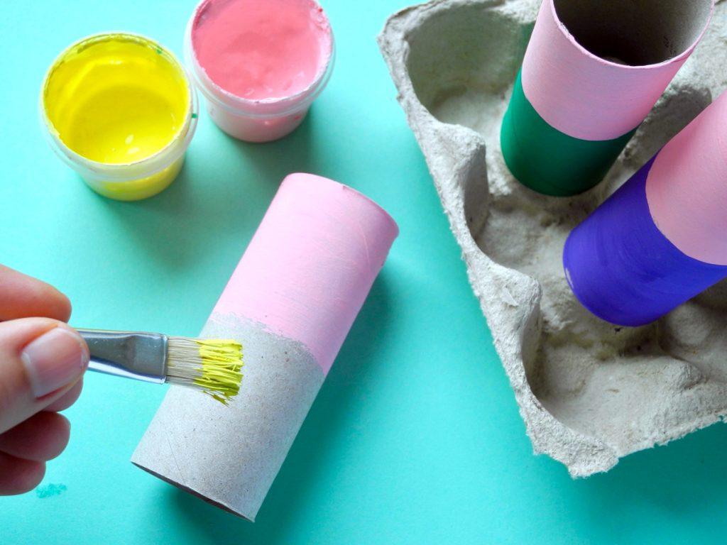 Upcyclingideen Kindergeburtstag, Gartenparty, Anleitung Gartenzwerg Schritt 1