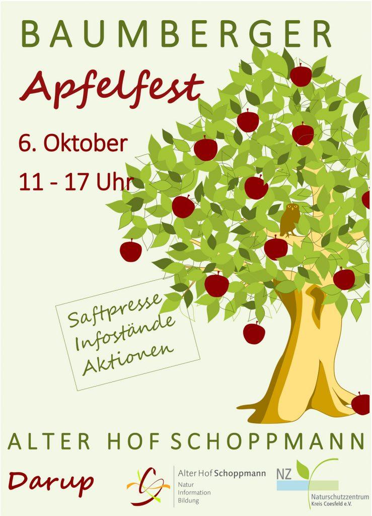 Poster zum Baumberger Apfelfest 2019