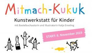 Flyer für die Mitmach-Kukuk-Kunstwerkstatt für Kinder