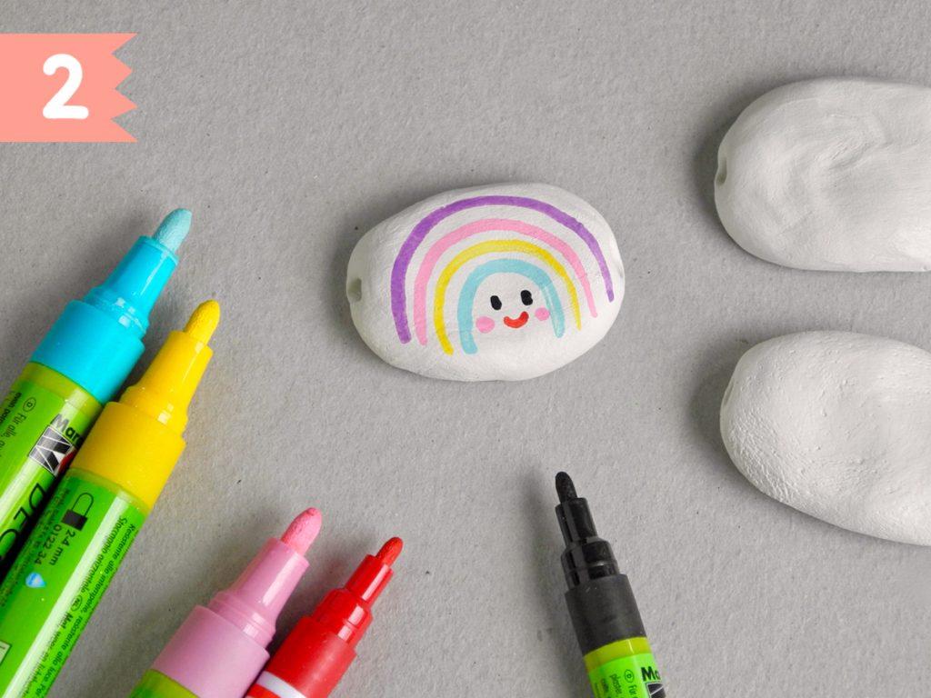Regenbogen-Bonbons aus Modelliermasse basteln, Schritt 2