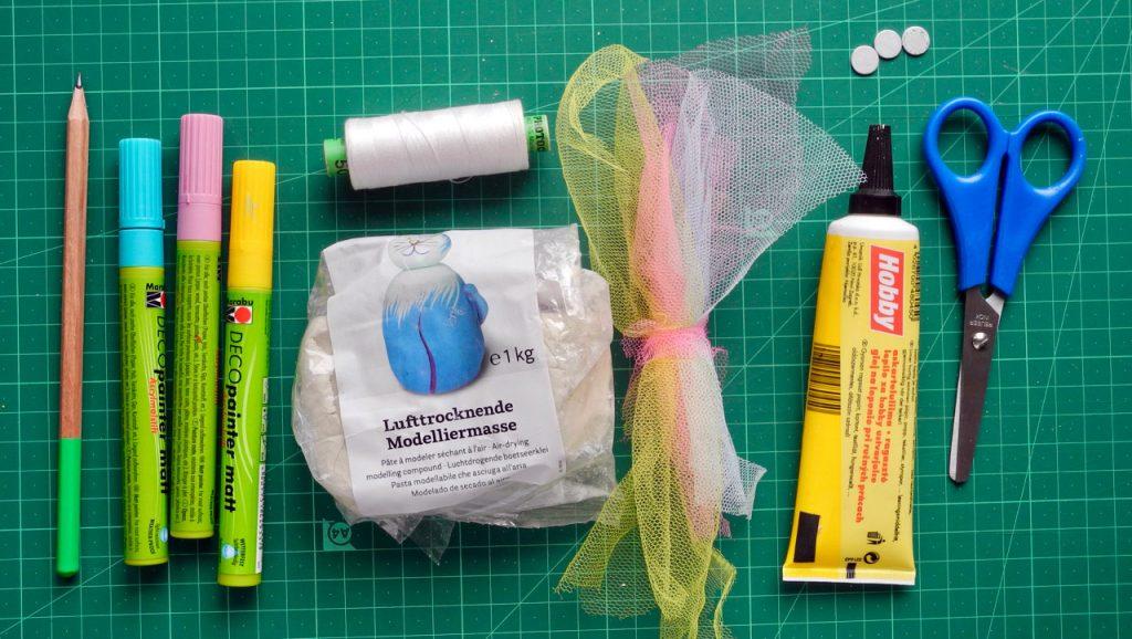 Regenbogenbonbons, Materialübersicht