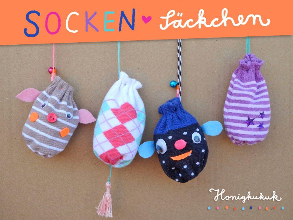 Socken-Säckchen basteln, Upcyclingidee